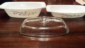 Vintage/Antique Pyrex Golden Honeysuckle Casseroles.