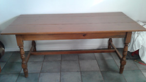 Hand crafted 6 ft pine table - moving sale