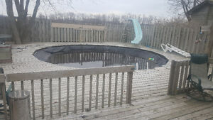 Free 24' swimming pool with all accessories