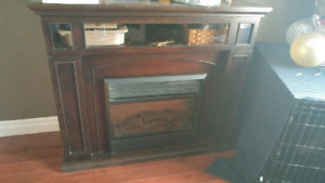 Media Console Electric Fireplace