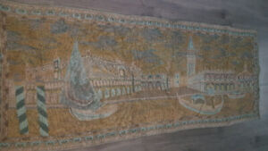Tapestry of Venice - Vintage gorgeous made by hand. 66""
