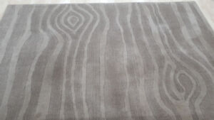 Taupe 100% Tufted Wool Rug, 5x8 $45