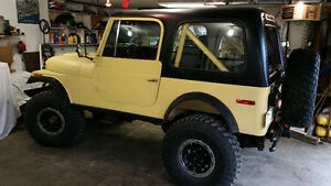 1980 Jeep CJ-7 Frame off resto w/Chevy drivetrain.