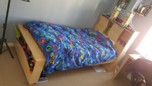 Kids bed and night stand