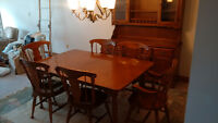 Solid Maple colonial dining room suite.