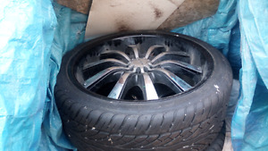 22inch halo rims and tires
