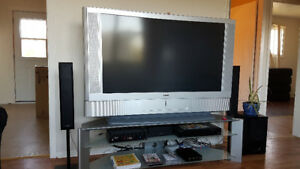 "Sony 55"" newer projection.   9 inch deep.  New bulbs"