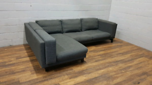 Free delivery: Gray Ikea Nockeby Sectional