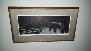 Robert Bateman Signed Numbered Print - Lily Pads and Loon 1983