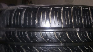 Four All Season Kumho Sense 195\60R\15 on alloy rims