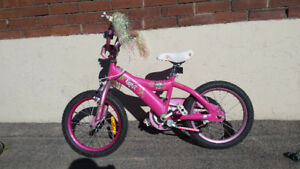 GIRLS BRATZ BIKE 16 INCH AGES 7-9 $30