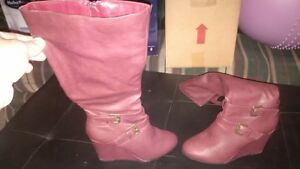 womans leather fashion boots