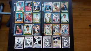 24 cartes de baseball topps 90 et donruss 2003