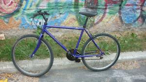 velo de montagne RALEIGH, roues 26 po, alu, 18 vitesses, bon pne