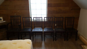 Set of 6 Antique Dining Chairs - $150 OBO