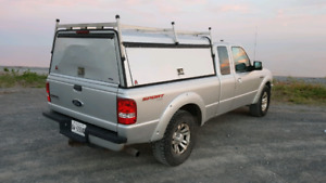 Leer Truck Cap with Ladder Rack for Ford Ranger