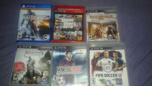 PS3 and PS4  games from $10.00 to $30.00