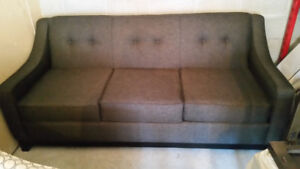 Chocolate Brown Upholstered Sofa