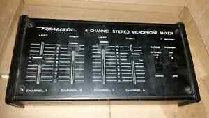 4 channel stereo mic mixer