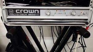 Crown amplifier and EAW speakers