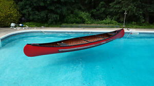 16' Cedar Strip / Fibreglass Canoe