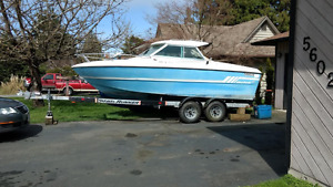 1976 Mercruiser Inboard w/Cuddy AND Trailer - Mechanic's Special