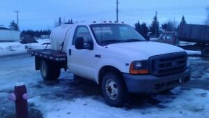 2000 Ford F-350 flatbed deck Truck