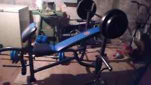 Complete Gym barbell dumbbell weights
