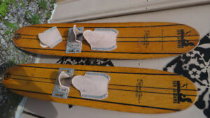 Wood Water Skis Reduced $40.