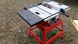 15amp, 10inch blade table saw