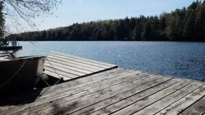 Chalet bord de l'eau, Lac Barron, Laurentide, a louer