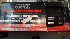 NEW Backyard Grill porcelain coated heat distribution plate