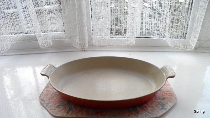 Le Creuset Vintage Volcanic Cast Iron 36 Cms Oval Gratin Dish Excellent Condition In Worthing West Sussex Gumtree