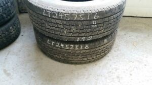 Pair of 2 Toyo Open Country G02 Plus LT245/75R16 WINTER tires (7