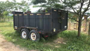 Dump trailer. Farm equip, sheep and hoop structure
