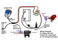 Veypor VR2 Datalogger Speedo with Billet aluminium case trike Tourer Kit Car