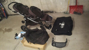 Baby Jogger City Select Double Stroller + accessories