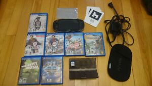 Sony PS Vita Good Condition with 8 Games and Accessories