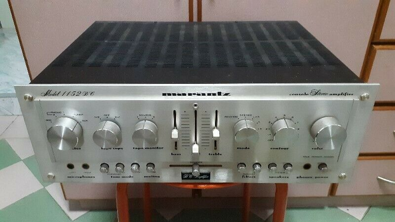 VERY POWERFUL SOLID STATE SOUNDS OF VINTAGE MARANTZ 1152DC INTEGRATED AMPLIFIER.