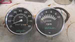 Speedo and tach for snowmobile