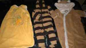 Baby 1 pieces and snowsuits. 3-9 M
