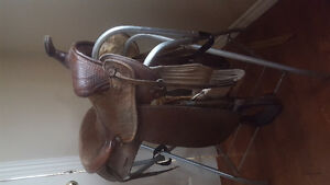 Western saddle for sale.