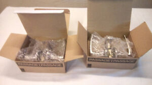 NEW IN BOX - TWO SETS OF TAYMOR ERIE PASSAGE LEVERS FOR $20