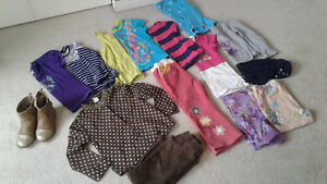 Girls spring and summer clothing lot size 4
