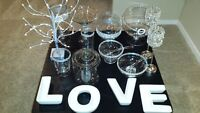 Assorted Candy Table Vases for Rent with Signage