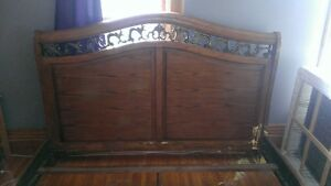 King size sleigh bed style frame