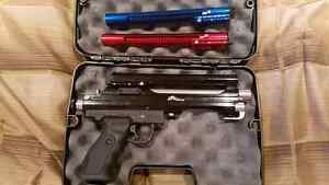 PT Xtreme paintball hand pistol with 2 ammo rails
