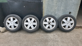 Renault megane clio scenic alloy wheels and tyres £100