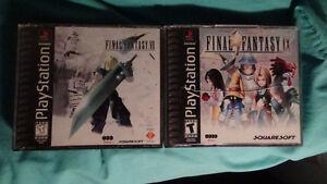 Final Fantasy 7 & 9 GREAT CONDITION