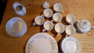 Snowhite Recency Johnson Bros dinnerware.